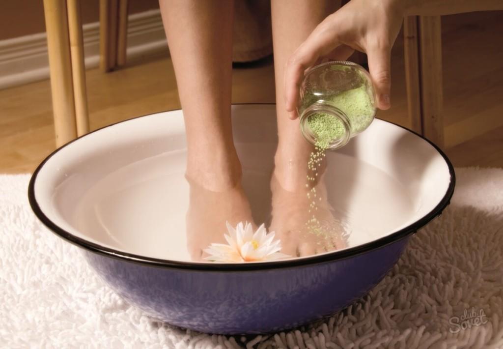Применение морской соли в ванночке при варикозе