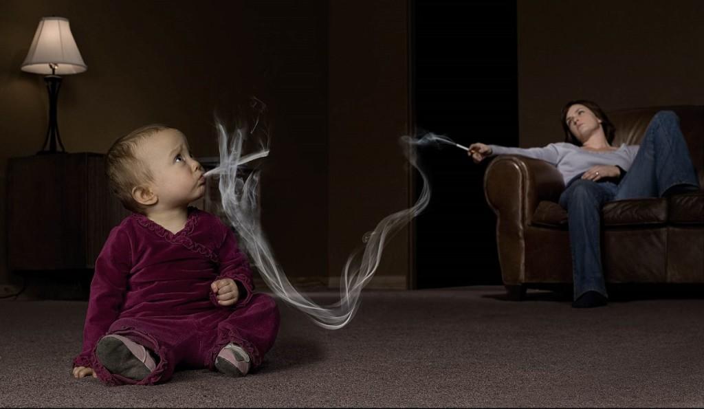 Пассивное курение ребенка