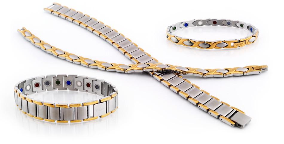 Женский и мужской лечебные магнитные браслеты