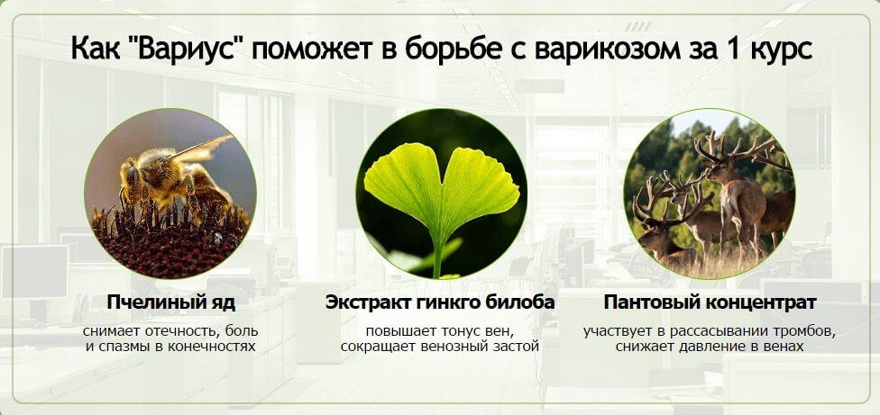 Состав геля Вариус